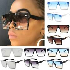 Womens Square Big Frame Eyewear Glasses Casual Fashion Oversized Sunglasses New