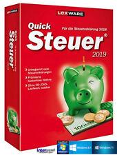 Lexware QuickSteuer 2019 Vollversion (Steuerjahr 2018) + Handbuch Download NEU