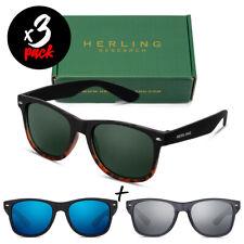 Tris occhiali da sole HERLING Pack AURA [Premium] uomo/donna sportivi fashion