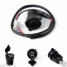 12 Volt 2.1A+1A Dual USB Car Cigarette Lighter Socket Splitter Charger + Mount