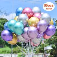 10Inch Latex PLAIN BALOON BALLONS 50PCS BALLOONS Quality Party Birthday Wedding