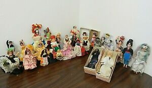 "Vintage Lot of 26 International 10"" - 4"" Souvenir Dolls"