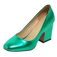 tata Womens Metallic Tone Ladies High Heels Pumps Shoes Size 1 2 3 4 5 6 7 8