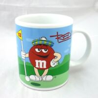 M&M Mars Sports Mug 12Oz Ble Peanut Football Red Golf 18th Hole Galerie 2002 NEW