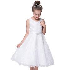 Flower Girl Dress Wedding Bridesmaid Birthday Pageant Graduation Tutu Tulle Gown