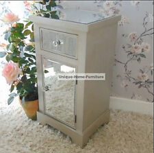 Chrome Mirrored Bedside/bathroom Cabinet With Drawer on Wheels