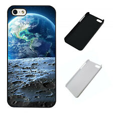 Earth from the moon space plastic phone case Fits iPhone