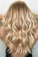 Balayage Blonde Wavy Wigs 100% Real Human Hair Wigs Lace Front Full Lace Wigs