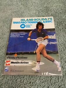 1980 Island Holidays Pro Tennis Classic Program Kaanapali Maui Hawaii