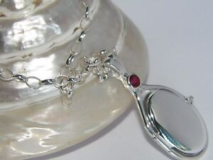 925 Sterling Silver 4 mm Natural Peony Topaz Locket H2O Just Add Water Mermaids