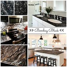 Countertop Paint Kit Bombay Black Update Laminate Kitchen Bathroom Countertops
