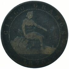 1870 SPANISH COIN - 5 CENTIMOS - 5 GRAMOS BEAUTIFUL COLLECTIBLE   #WT29723