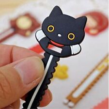 2PCS Cartoon Cute Rubber Earphone Headphone Cable Cord Organize Wrap Wind Random