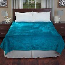 Lavish Home Solid Soft Heavy Thick Plush Mink Blanket, 8-Pound, Aqua