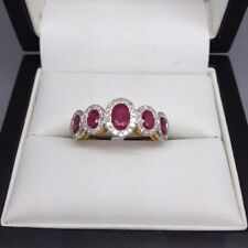 Unbranded Cocktail Ruby Fine Rings