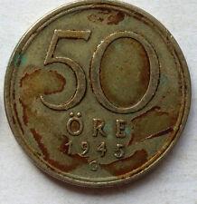 Sweden 1945 50 Ore coin