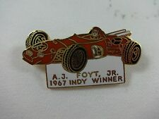 1967 A.J. Foyt Indianapolis 500 Winner Collector Lapel Pin Sheraton Thompson