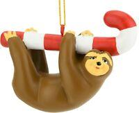 Tree Buddees Cute Candy Cane Sloth Animal Funny Christmas Ornament Fun Ornaments