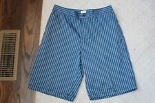 Mens Adidas Blue Black Check Plaid Golf Shorts Size 34 97% Polyester Golfing
