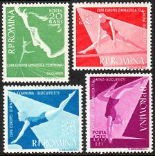 Romania 1155-1158, MNH. European Women's Gymnastic Meet, Bucharest, 1957