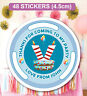 48 Birthday Party Bag Stickers Sweet cone Labels V Bucks Theme Personalised
