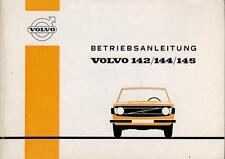 VOLVO 142 144 145 Betriebsanleitung 1972 Bedienungsanleitung Handbuch  BA