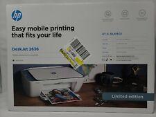 NIB HP Deskjet 2636 Limited Edition Atlantic Blue Wireless All-In-One Printer