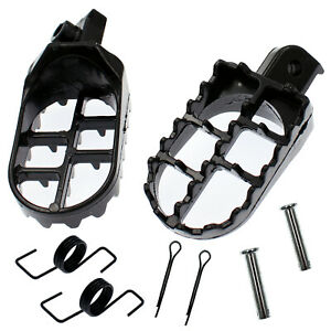 Black Foot Pegs Yamaha TTR50E TTR90 TW200 WR200 250 WR500 XT250 XT350 XT600 New