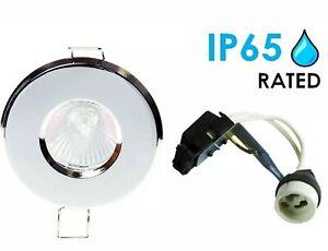 4 x Polished Chrome  LED GU10 Recessed Downlight Spotlight IP65