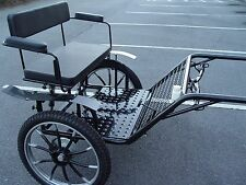 """Horse Carriage, 2 wheel Cart, 49"""" Wide Wheel Size 27"""" Navy"""