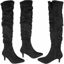 d032265126120 Kitten Heel Suede Boots for Women   eBay