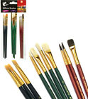 Pack 10 Artist Paint Brushes Set Small Large Thin Thick Kid Activity Home School