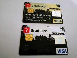 Brazil - Bradesco Bank/Credit Card - Visa - Card and Sample -Expired 2017