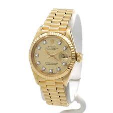 ROLEX PRESIDENT LADIES 18K YELLOW GOLD WRIST WATCH DIAMOND DIAL REF 6917 #8915