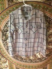 Long Sleeve Gray And Blue Plaid Billabong Flannel Size Medium