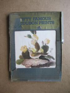 """Vintage """"Fifty Famous Audubon Prints"""" - 9 1/4"""" x 121/2"""""""