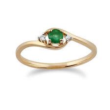 Emerald Round Fine Gemstone Rings