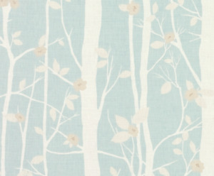 Laura Ashley Cottonwood Duck Egg Fabric (per metre) * FREE DELIVERY *
