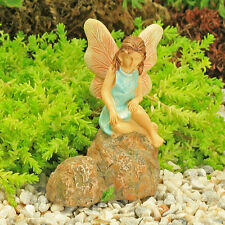 Deep In Thought Fairy on Rock ~ Fairy Garden ~ Miniature ~ Magical by Jennifer