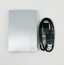 Seagate Backup Plus Slim Portable External Hard Drive USB 3.0 Enclosure Silver