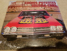 2018 Calendar 16-MONTH Coches Potentes Muscle Cars Calendario De 16 Meses