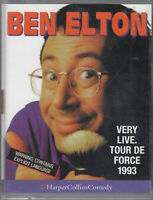 Ben Elton Very Live Tour de Force 1993 2 Cassette Audio Book Comedy Stand Up