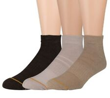 GOLD TOE Men's 6 PAIR PACK NO SHOW LINER ANKLE SOCKS White Cotton SHOE 6-12