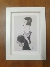 More details for set of three framed prints of andy warhol pen and ink fashion illustrations