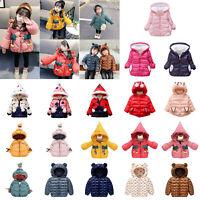Winter Coat Baby Boy Girl Jacket Kids Winter Warm Outerwear Children Hooded Coat