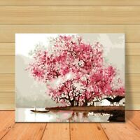 Blossoms Paint by Numbers DIY Large Canvas Oil Painting Kit Unframed Home Crafts