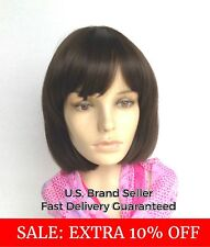 Bob Pixie Wig Lob Or Lace Front Black Brown Blonde Cosplay Costume Heat Friendly