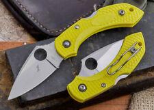 "Spyderco Dragonfly2 Salt Folding Knife 2.25"" H1 Steel Blade Yellow FRN Handle"