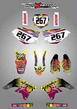 Full Custom Graphic Kit Suzuki RMZ 250  - 2007 - 2009 NEON style stickers