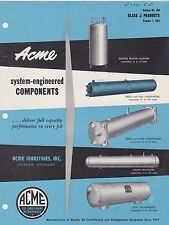 VINTAGE CATALOG #2924 - 1954 ACME SYSTEM ENGINEERED COMPONENTS